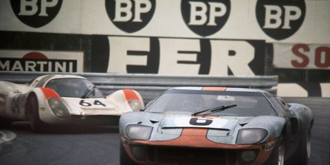 Jacky Ickx and Jackie Oliver drove the Ford GT40 to the win at Le Mans in 1969, Ford's fourth consecutive overall victory at Circuit de la Sarthe.