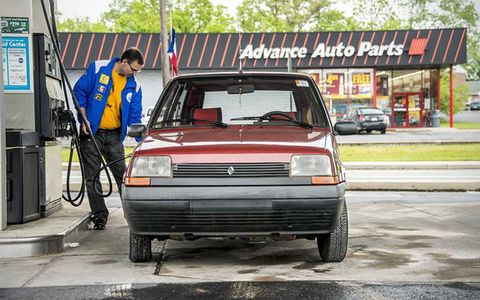 Filling up the Renault