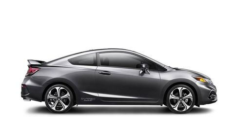 The 2014 Honda Civic Si Coupe is equipped with a 2.4-liter I4.