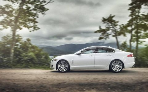 The 2014 Jaguar XF 3.0 AWD receives and EPA-estimated 19 mpg combined fuel economy.