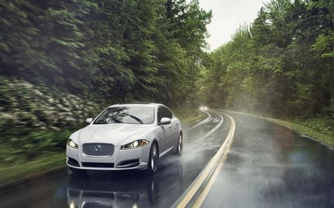 The 2014 Jaguar XF 3.0 AWD cranks out 340 hp with 332 lb-ft of torque.