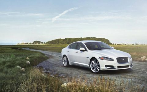 The 2014 Jaguar XF 3.0 AWD is equipped with a 3.0-liter supercharged V6.