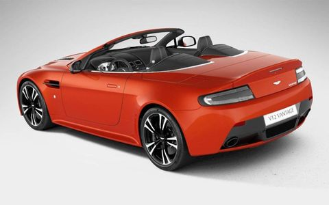 This is reportedly a photo of the 2013 Aston Martin V12 Vantage Roadster.