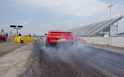 Our first run is in a ZL1 equipped with a six-speed automatic transmission, something not available on the Ford Mustang Shelby GT500.