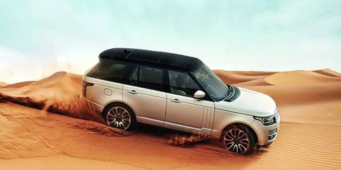 The new Land Rover tips the scales at 700 lbs less than the outgoing model, weighing 5,701 lbs