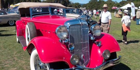 A classic Chrysler with a Stanford connection, this 1933 CL Phaeton is powered by a Cadillac V16 engine.