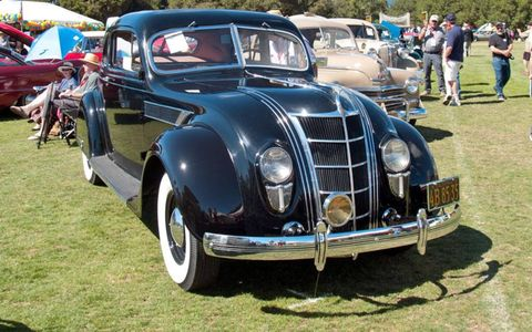 Chrysler amazed the public with its aerodynamic 1935 Airflow, shedding the exposed radiator and fenders.