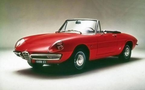 "Pininfarina designed and assembled the 1966 Alfa Romeo Spider 1600 ""Duetto."""