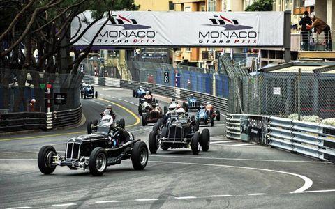 Pre-1952 Grand Prix cars take to the track in Monaco.