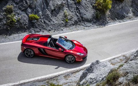 McLaren has revealed its sleek MP4-12C Spider.