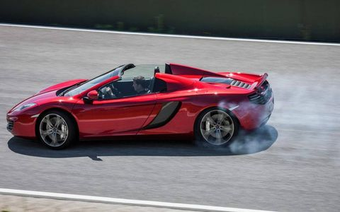 McLaren says the open-top supercar will sprint to 62 mph in exactly the same time as its coupe sibling, at 3.1 seconds.