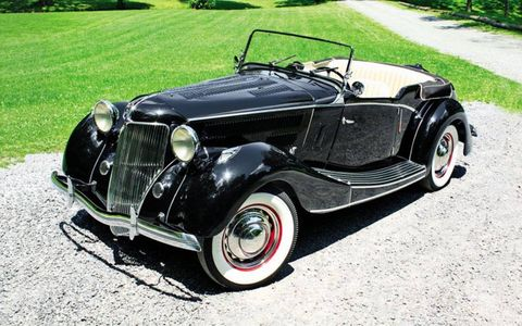 For decades, the photo has misled the impulsive and the unwary: Clark Gable, dashingly handsome in full confident swagger, leans possessively on a black 1936 Jensen-Ford—to be precise, this 1936 Jensen-Ford