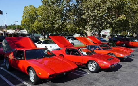 Four Panteras packed the parking lot at La Canada Cars & Coffee.