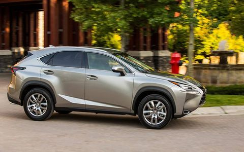 """This is Lexus's most bold design yet. That """"spindle"""" grille features horizontal slats on non F-Sport models."""