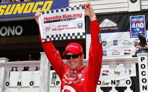 Scott Dixon's victory at Pocono was the 200th for Honda in IndyCar.
