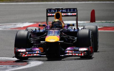 Sebastian Vettel won for the first time in Germany on Sunday.