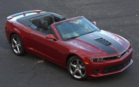 The 2014 Chevrolet Camaro 2SS Convertible puts out 426 hp with 420 lb-ft of torque.