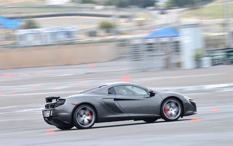 The 650S on the autocross course, where we could powerslide to our heart's content.