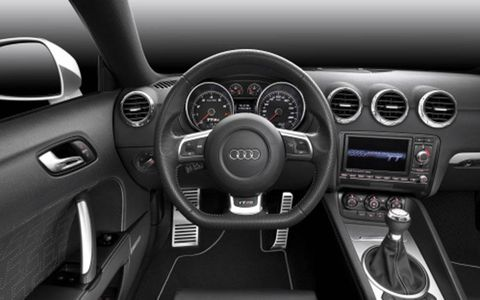 2012 Audi TT RS interior view.