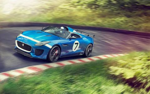 To commemorate Jag's 7 wins at LeMans between 1951 and 1990, they're bringing the Project 7 to Goodwood.