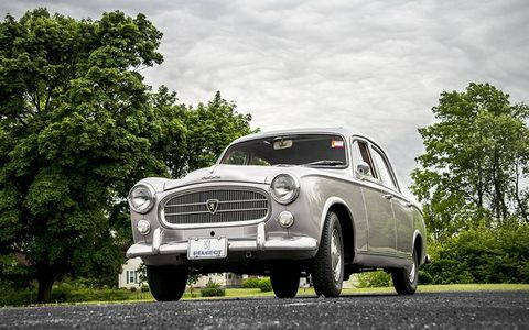 Jim Schlick's Peugeot 403B sedan from 1966 in Pennsylvania
