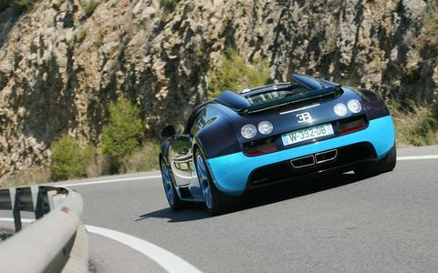 The new Bugatti's dynamic limits are so high that we will not pretend that we came anywhere near approaching them.