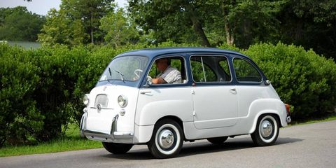 A classic Fiat Multipla makes an appearance