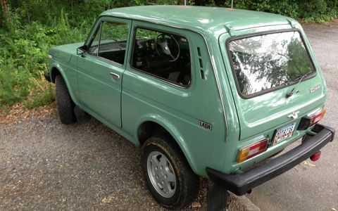 Despite its somewhat goofy looks, the Lada Niva has a reputation for being a solid off-roader.