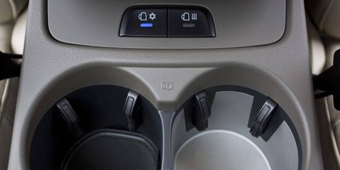 The Audi Q5 offers a host of options including these heated and cooled cupholders.