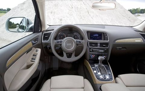 The view from the Audi Q5's driver's seat.
