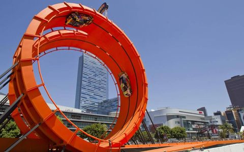DOULBE DARE // The Hot Wheels Double Dare Loop was a big attraction at this year's X Games in Los Angeles.
