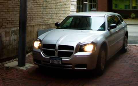 Now that's a little more like it. Dodge Magnum, Andy Warhol Museum loading zone, Pittsburgh, 2005.