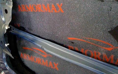 Armormax, a blend of synthetic fibers and laminates, provides the protection of steel without adding the weight of heavy steel plate.