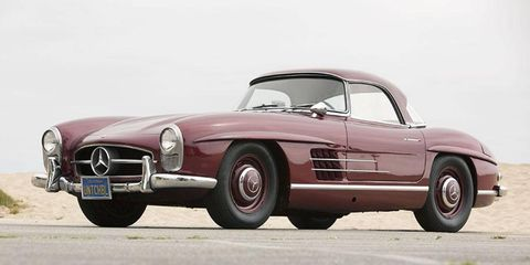 The star-studded star of the auction, Robert Stack's 300SL Roadster.