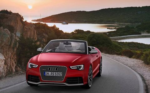 The RS5 Cabrio starts at $77,900 and ours stickered in at $88,720