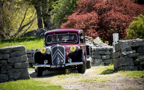 Didier Rocherolle's nicely restored Citroen Traction Avant from 1950