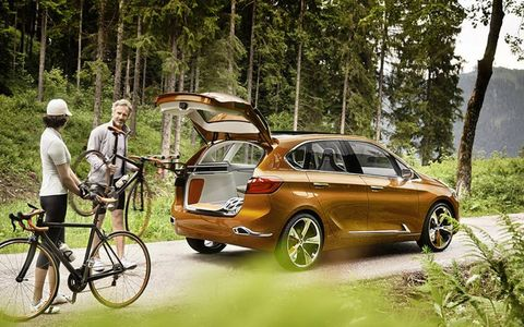 The Active Tourer Outdoor Concept will have a unique bike storage system inside