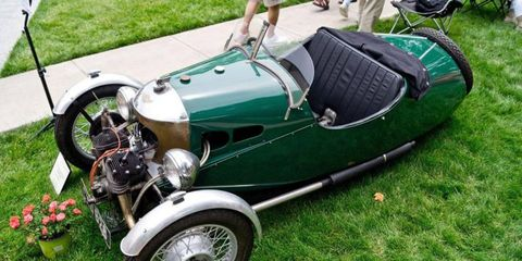 1934 Morgan Three-Wheeler 'Trike' CXD 628 owned by Steven Hobbs. This was Stirling Moss' first road car, given to him by his father at age 15