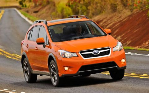 The Crosstrek gets unique front and rear fascias, with integrated fog lamps, a more defined lower front scoop and extra black cladding in back—all bits that echo its bigger sibling, the Outback.