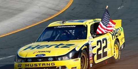 Brad Keselowski led a 1-2-3-4 sweep for Cup regulars in the NASCAR Nationwide Series race at New Hampshire Motor Speedway on Saturday.