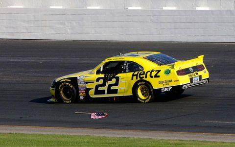 About the only thing Brad Keselowski did wrong on Saturday in New Hampshire was dropping the flag on his victory lap.