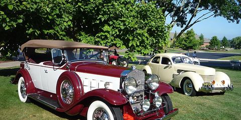 A 1931 Cadillac and 1937 Cord