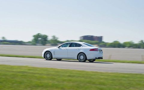 In the end, with the points weighted more heavily toward the driving portion, the Jag ran away with the overall win, the Caddy falling 3.5 percentage points back and the 550i and the A7 rounding out the top four.