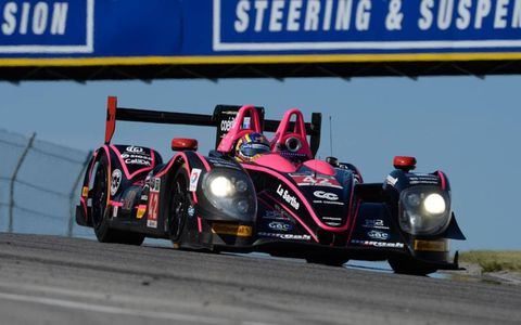 Gustavo Yacaman and Oliver Pla raced to the IMSA Tudor United SportsCar Championship race win Sunday in Canada.