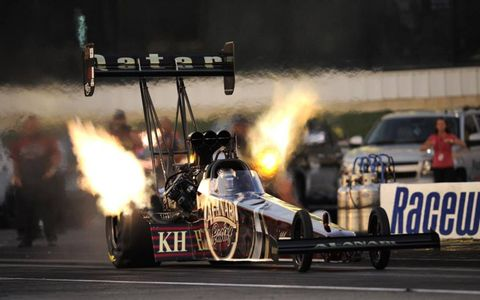Del Worsham leads the Top Fuel class with five victories in 2011. Photo: NHRA