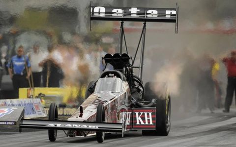Larry Dixon, Worsham's teammate and reigning champion, won his first race on June 19 and is poised to make a move. Photo: NHRA