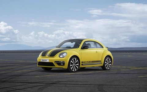 The 2014 Volkswagen Beetle GSR puts out 210 hp with 207 lb-ft of torque.