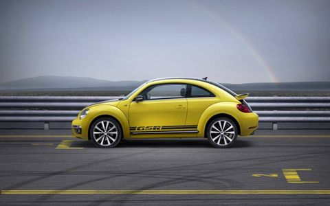 The 2014 Volkswagen Beetle GSR is equipped with a 2.0-liter turbocharged I4.