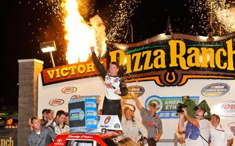 Timothy Peters rocked victory lane on Saturday night.