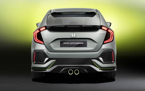 The Civic hatch will go on sale in 2017.